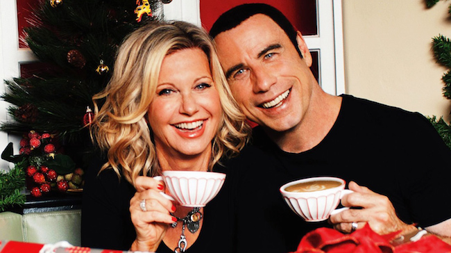 1681701-poster-1960-john-travolta-olivia-newton-john-look-super-normal-on-their-christmas-album-cover