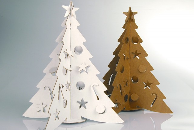 the cardboard christmas tree