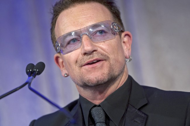 Bono speaks during the Atlantic Council Annual Awards Ceremony in Washington